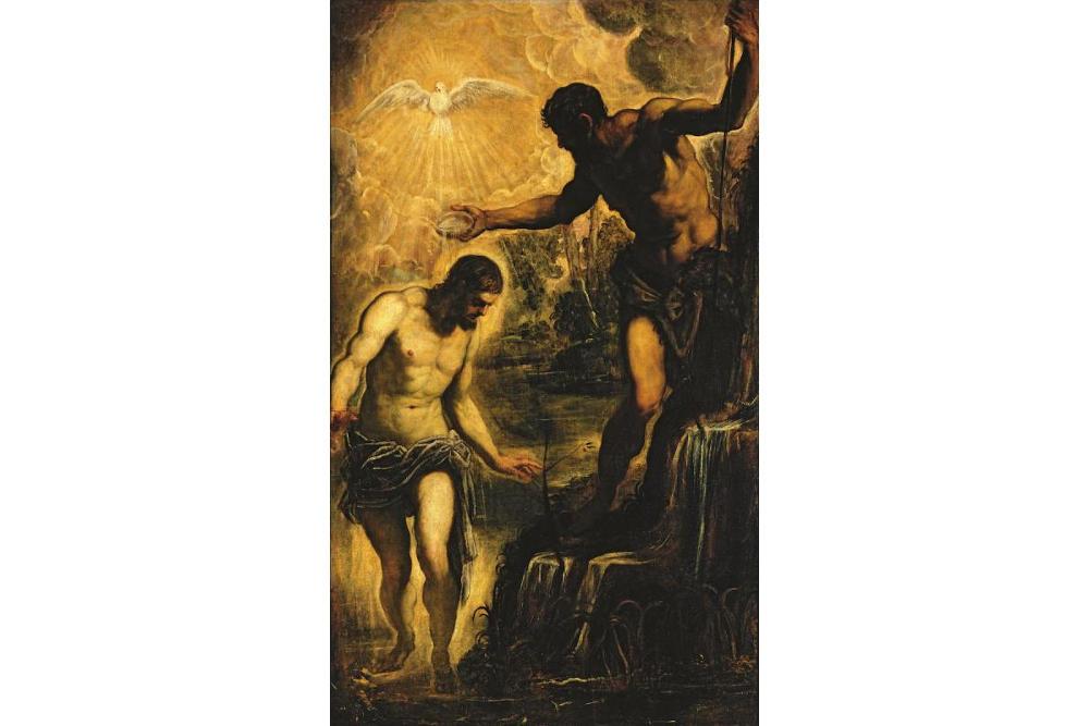 Якопо Робусти, прозванный Тинторетто (около 1518 – 1594). Крещение Христа. Около 1580. Холст, масло. Венеция, церковь Сан Сильвестро