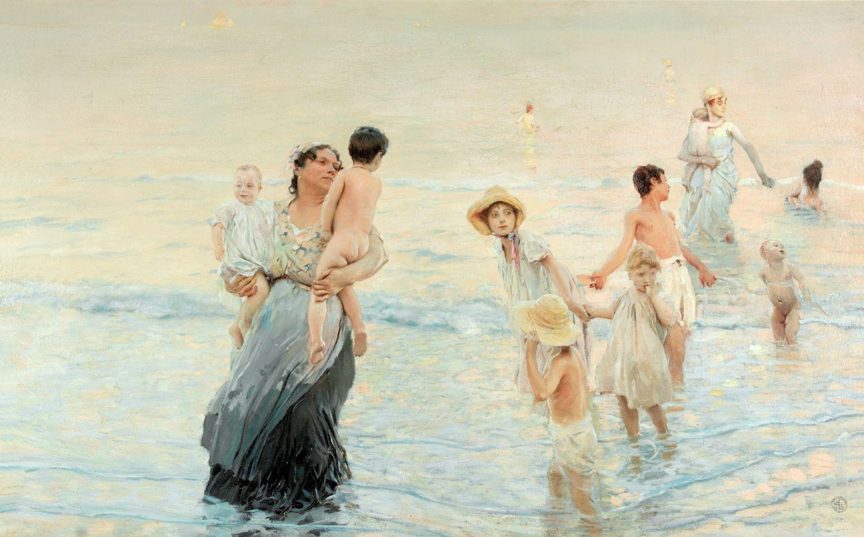 Этторе Тито, Июль (на пляже), 1893-94