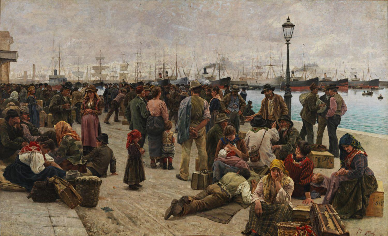 Анджоло Томмази, Эмигранты, 1895, Рим, Национальная галерея современного искусства