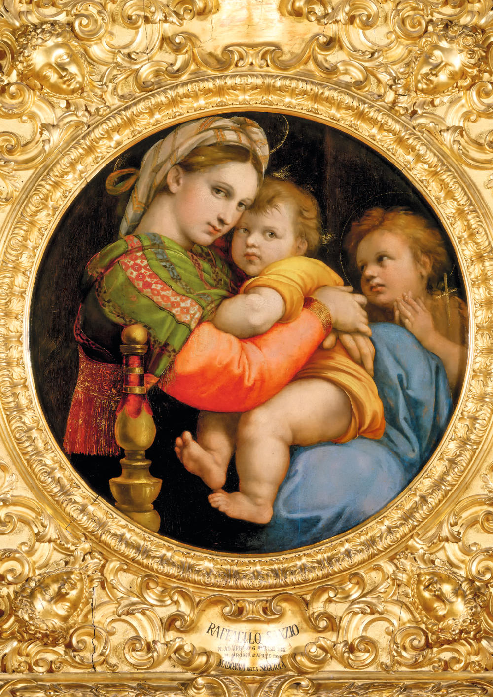 Raphael (1483-1520): Madonna della Seggiola (Madonna of the Chair). Florence, Galleria Palatina*** Permission for usage must be provided in writing from Scala. ***