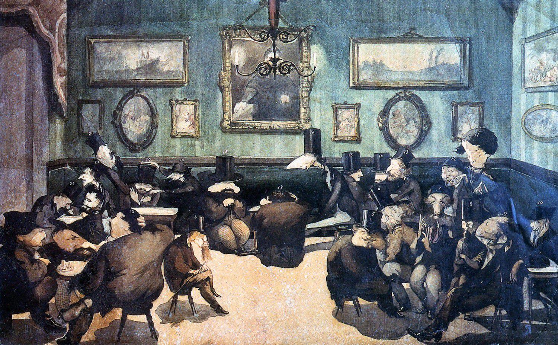 Живопись_Adriano-Cecioni_Caffè-Michelangiolo-1861